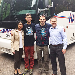 Hon. Bardish Chagger, Canada's Minister of Tourism and Small Business, and Kelly Lindon, Mayor of Centre Wellington at Parkbus Launch event in Elora Gorge in May 2016